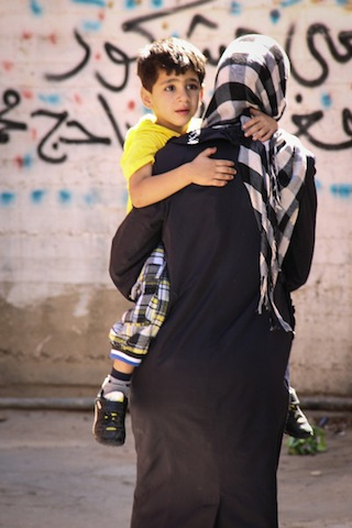 Middle Eastern Mother and Son