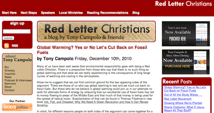 3 Year Anniversary Letter from www.redletterchristians.org