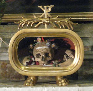 St. Valentine's remains and in The St. Valentine's Reliquary on Whitefriar Street Church in Dublin,  Ireland which can be visited and seen until this day.