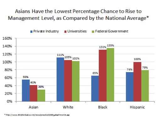 AAPI Management Level Graph