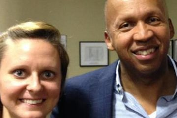 Meghan Killingsworth with Bryan Stevenson, director of Equal Justice Initiative.