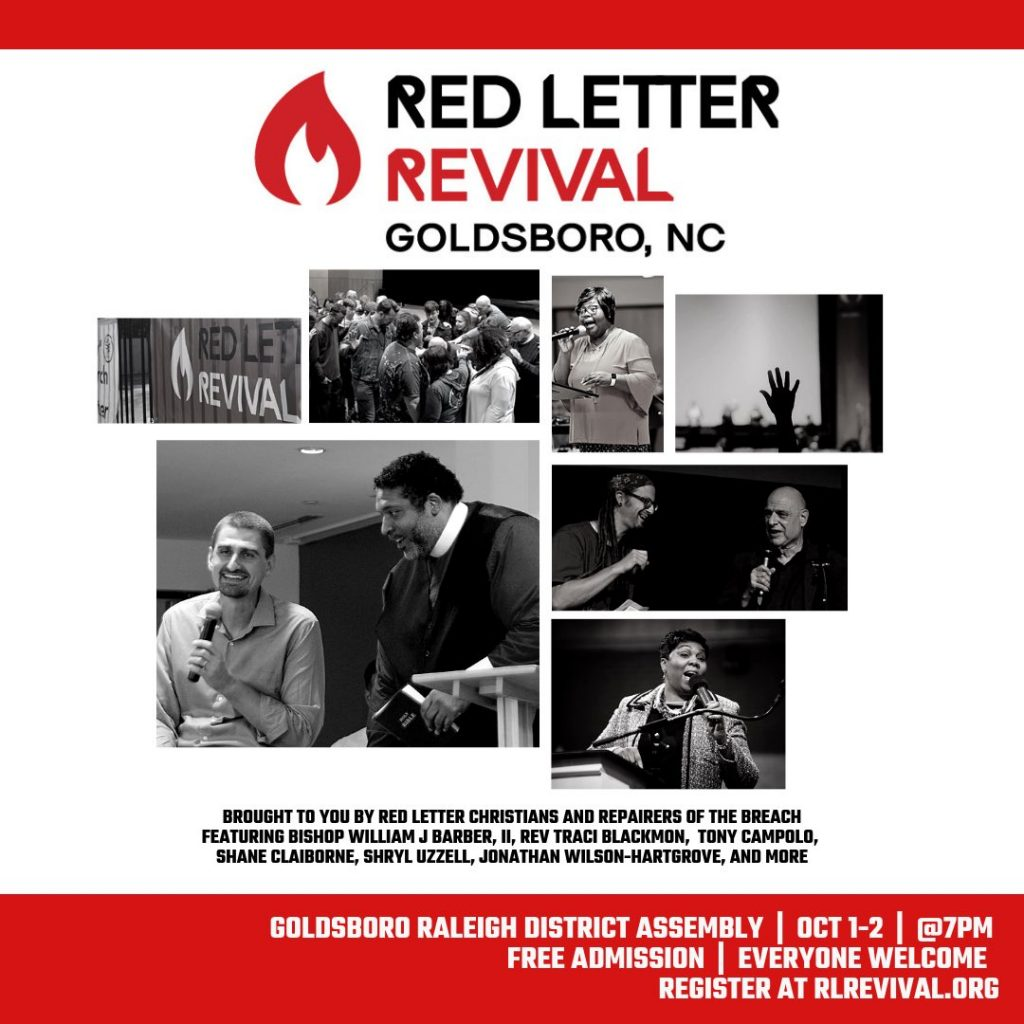 Red Letter Revival.Goldsbororevival Challenging The Distorted Moral Narrative Of The