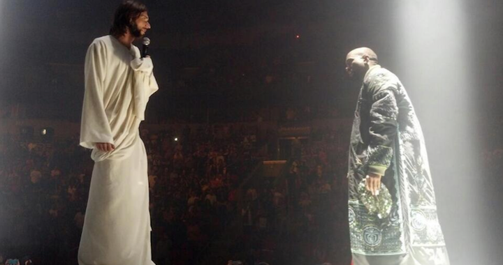 Kanye West With Jesus On Stage
