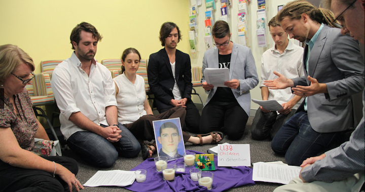 Prayer Vigil In MP Scott Morrisons Office Kate Ausburn